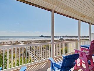 First-floor villa w/beach and ocean views from spacious balcony