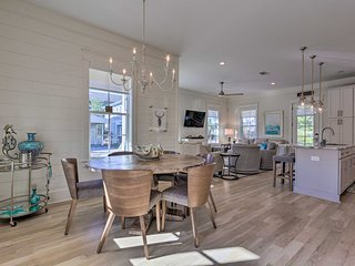 NEW! Modern Abode w/ Grill & Deck - Walk to Beach!
