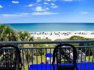 Directly on the beach Beachfront Condo w Balcony at Camelot by the Sea
