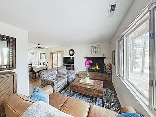 New Listing! Private Pine Haven w/ Fireplace, New Kitchen & Deck