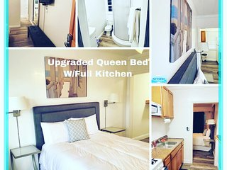 Upgrade Queen w/full kitchen