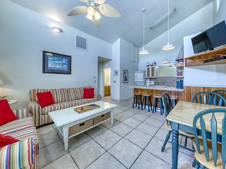 Dog-friendly condo w/ a shared pool, great beach vibes, & stunning views!