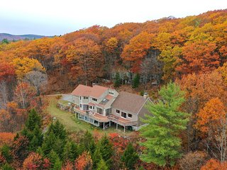 Maximum privacy, High on the hills, spectacular views, 10 acres of woods.