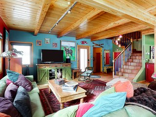 Colorful, eclectic home w/ lovely views & easy access to year round outdoor fun!
