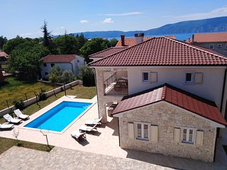 Croatia Krk Island stone villa for rent