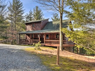 Charming Cabin w/ Hot Tub - 13 Miles to Blue Ridge