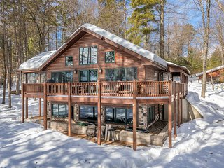 NEW LISTING! Lakefront family-friendly home w/ firepit, playset, dock - dogs OK!
