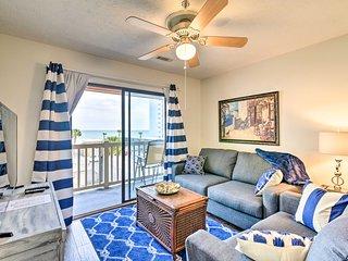 Cozy Condo w/Balcony + Ocean View - Walk to Beach!