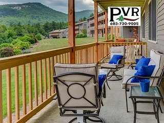 2BR Condo 1 Min to N.Conway Village! Pool, Tennis, Grill, AC, WiFi!