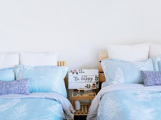 2 comfortable double beds! Sleeps up to 4.