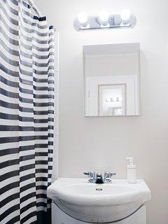 Bathroom with bathtub!