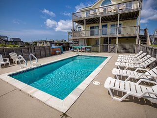 Glistening Sands | Oceanfront | Private Pool, Hot Tub | Nags Head