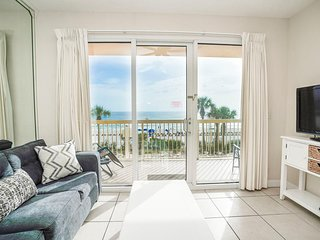 Calypso Beach Resort 205E | Walk to Pier Park | Beachfront Condo | Garden Tub!