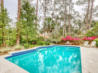 Island residence w/ private pool & spacious deck - short walk from the beach