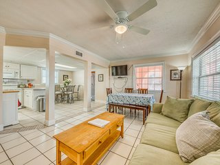 NEW LISTING! Gulf-front home w/patio & miniature golf - one block to the beach!