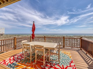 New listing! Beachfront, multi-level home w/ amazing views - close to everything