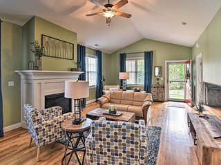 NEW! Updated Home w/Fireplace + Deck, Walk to Park