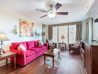 Beautifully decorated oceanfront condo with shared pool and hot tub!