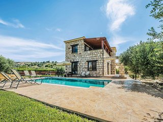 Hillside stone villa with private pool