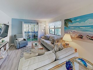 New Listing! All-Suite Coastal Condo w/ Screened Porch, Pools - Walk to Waves