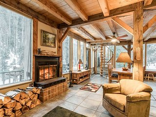 New Listing! Spalding Chalet: Serene Haven w/ Creek Access, Close to Ski Lift