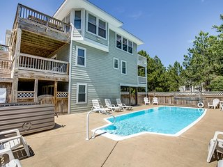 Jones Beach House | 1200 ft from the beach | Private Pool, Hot Tub | Corolla