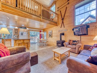 NEW LISTING Dog-friendly riverfront cabin with fireplace, hot tub, & fire pit