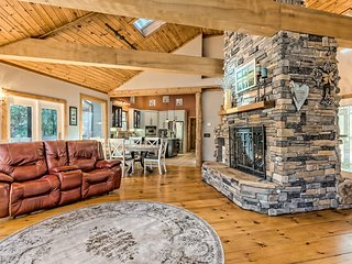 Family-friendly, waterfront home w/ two kitchens, dry sauna, & creekside gazebo