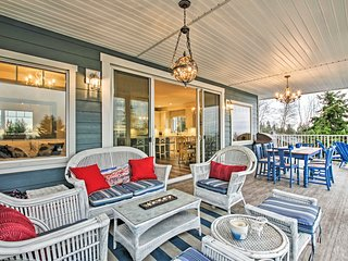 NEW! Upscale Retreat w/Deck & Views, Walk to Beach