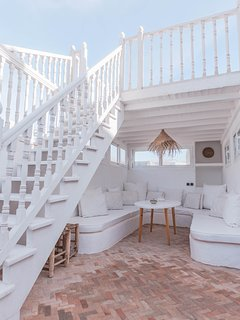 Stairs to the sundeck