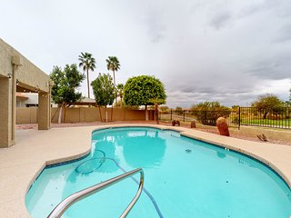 Colorful & spacious home w/private outdoor pool, gas grill, pool table & more!