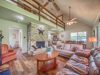 Over 50 ft of Private Guadalupe Riverfront access with a riverside deck!