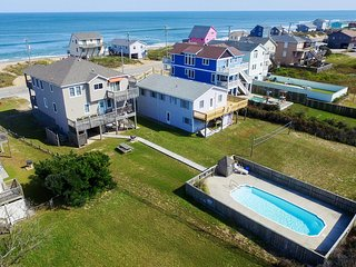 Hokie Heaven | 50 ft from the beach | Private Pool, Hot Tub | Kitty Hawk