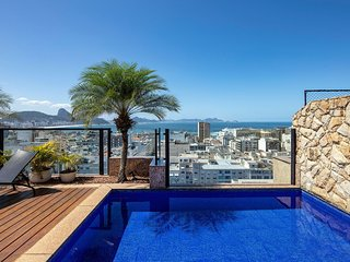 Rio034 - Penthouse with view and pool in Ipanema