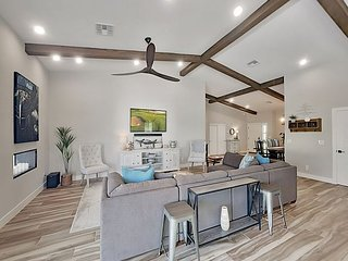 Modern Desert Bliss! Brand-New Retreat with Resort-Style Pool, Backyard Oasis