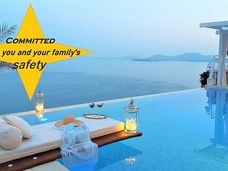 Agni bay,NEcoast,luxurious secured&privac/pool/WiFi/AC/smartTV&Netflix/BBQ/beach