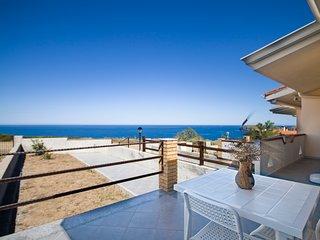 Vista Mare Costa Verde- Vitalia- 2 camere – giardino – BBQ – WIFI -