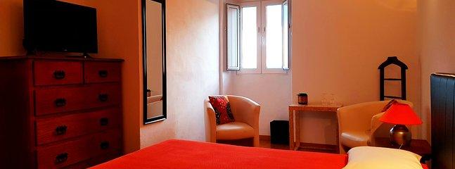 Espaço de lazer no quarto duplo Space to readding in the double room