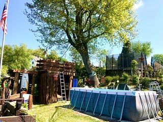 FRANKES LODGE Apartment mit Garten und Pool
