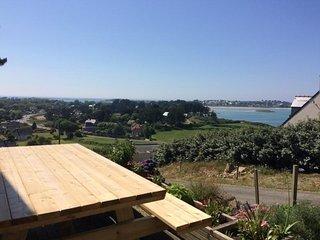 Superbe villa 4* pour 8 pers. avec vue mer panoramique en Penvern à