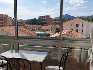 Appartement pour 3 personnes vue sur les Albères