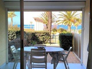 Beau studio front de mer domaine tennis piscine