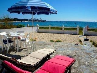 Maison 4 pièces 6 personnes -  vue mer privilégiée, à 10 m de la plage (Lomener)