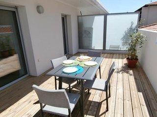 Cinq Cantons : Appartement moderne avec terrasse aux Halles des 5 Cantons - à
