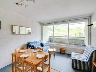 Studio cabine 5 personnes vue pistes, residence Mongie Hebdo