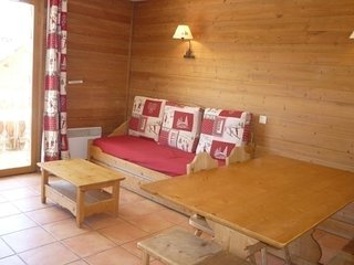 Spacieux appartement style montagne, 8 pax, Pra Loup