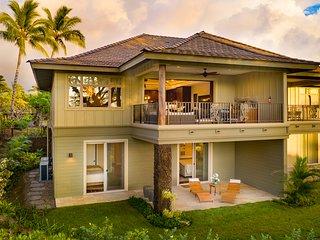 New Luxury Home w/Golf Course Views, AC, & Shared Pool.  Mauna Lani Kamilo #123.