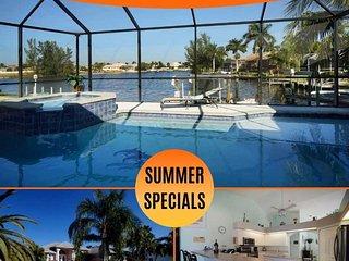 24% OFF! SWFL Rentals - Villa Ashlyn - Large Gulf Access Heated Pool Home Sleeps