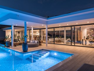 Spectacular, contemporary luxury villa with sea and mountain views