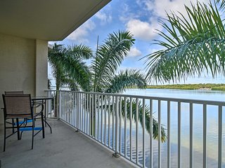 NEW! Waterfront Condo w/Balcony+Views 3Mi to Beach